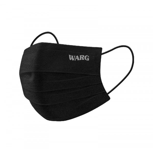 Black Mask With Silver Embroidered Logo