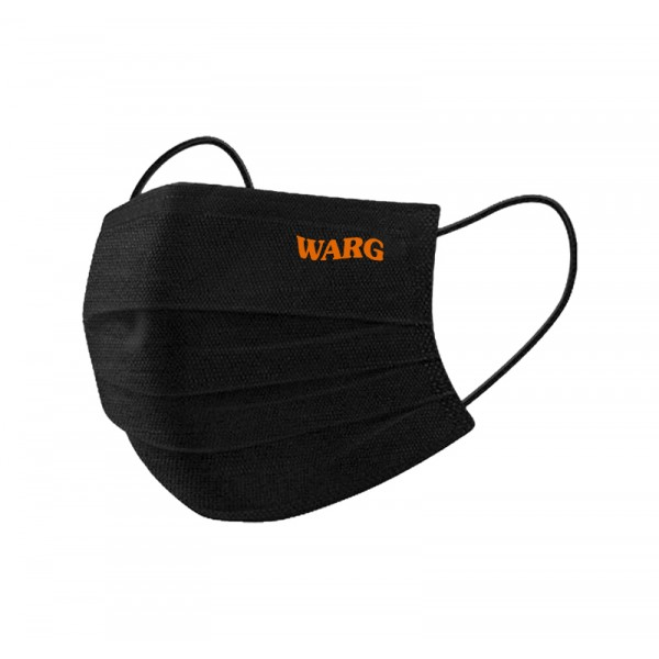 Black Mask With Copper Embroidered Logo