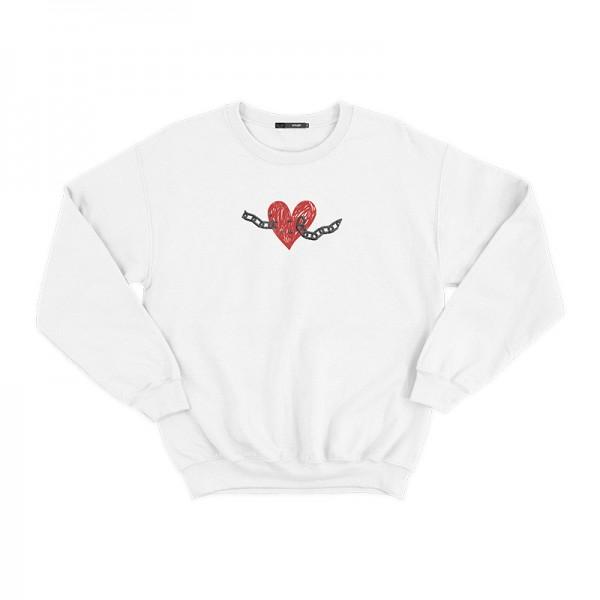 White Valentine's Day Sweatshirt