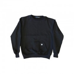 Black crewneck with front pocket