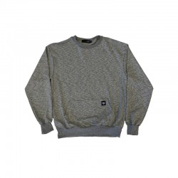 Grey crewneck with front pocket