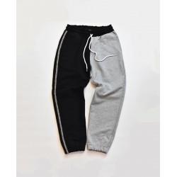 Colorblock Sweat Pants  Gray-Black