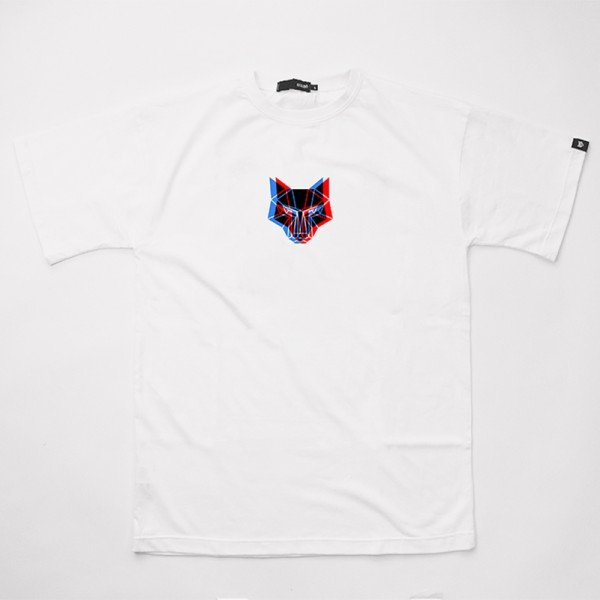 White Oversized T-Shirt With Front Print