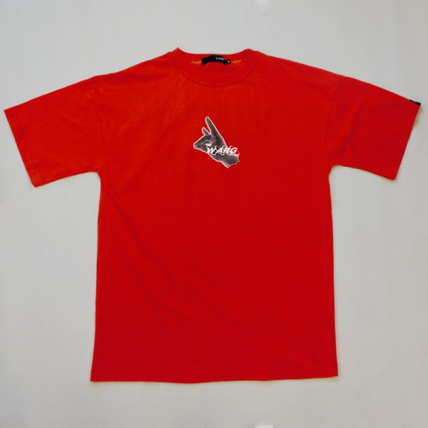 Red Oversized T-Shirt With Front Print