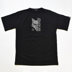 Black Oversized T-Shirt With Front Reflective Print