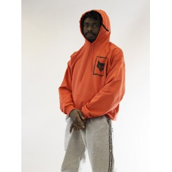 Oversized Stargazers Orange Hoodie