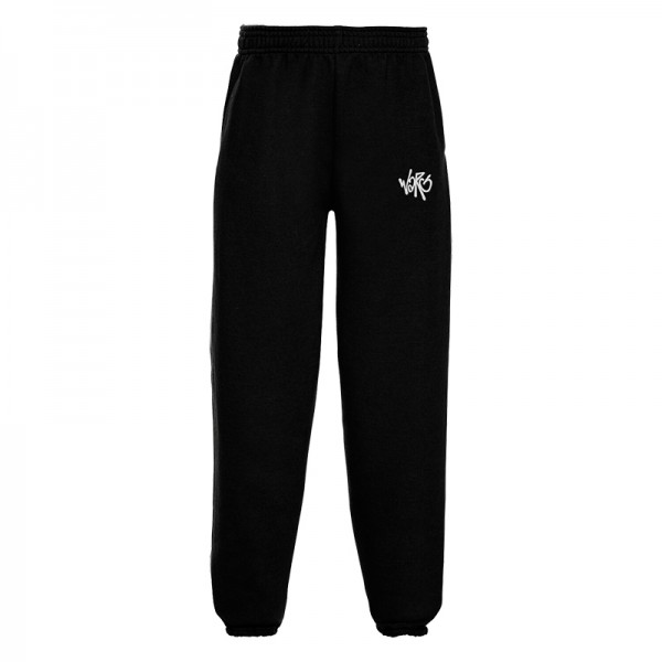 Black Sweatpants With Embroidered Logo