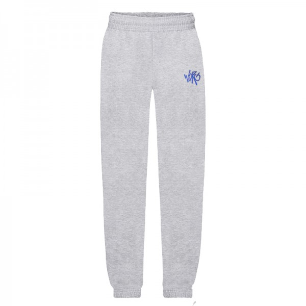 Gray Sweatpants With Embroidered Logo