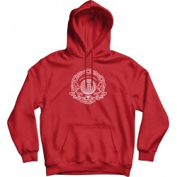 Red Oversized Hoodie With Front Print