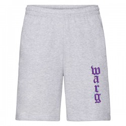 Heather Gray Shorts With Embroidery