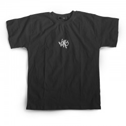 Black Tee With Glow In The Dark Embroidered Chest Logo