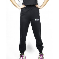 Black Sweatpants With Embroidered Logo W.