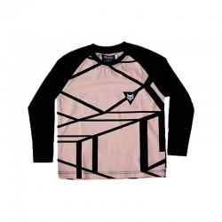 Warg cubs long sleeve raglan t-shirt with heavenly stripes print